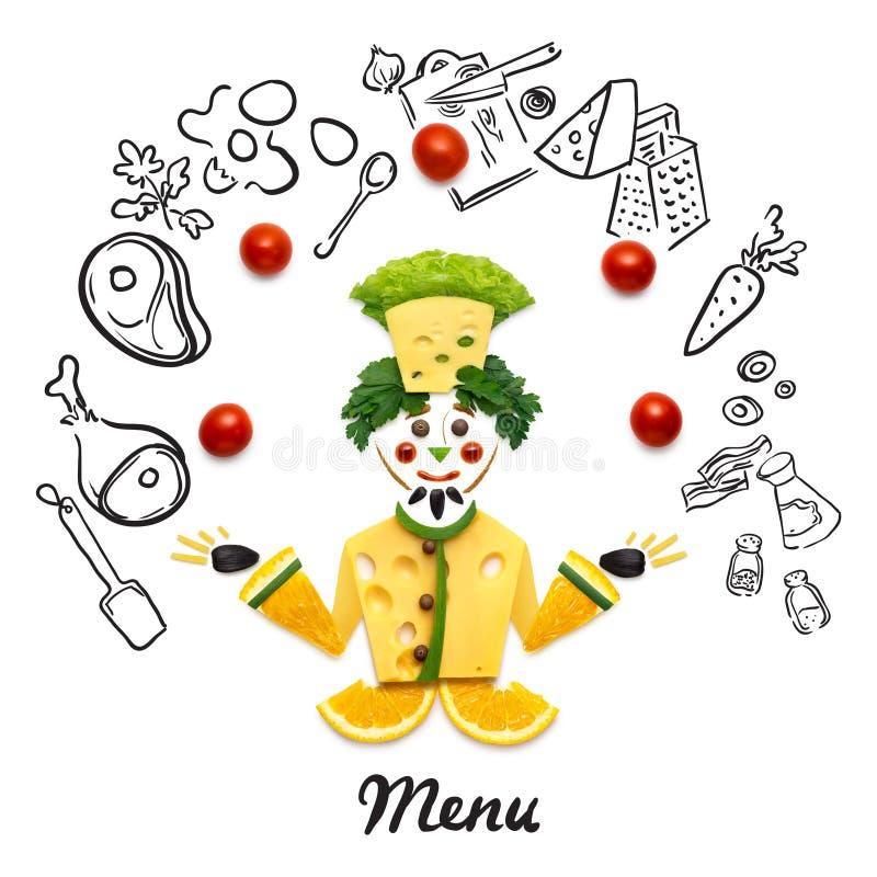 Cocinero del Veggie ilustración del vector