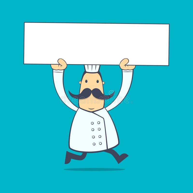Cocinero en diversas actitudes stock de ilustración