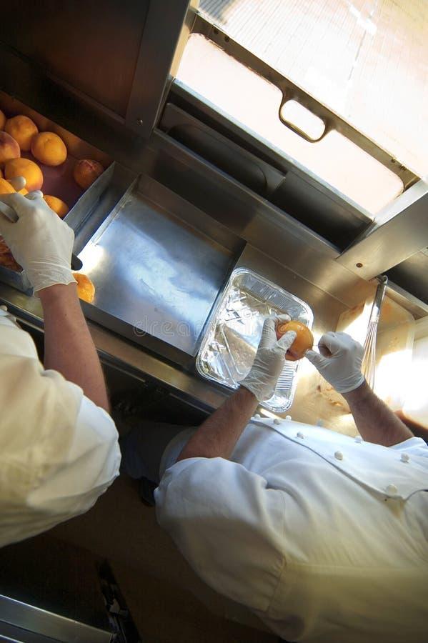 Cocinero en el trabajo foto de archivo libre de regalías