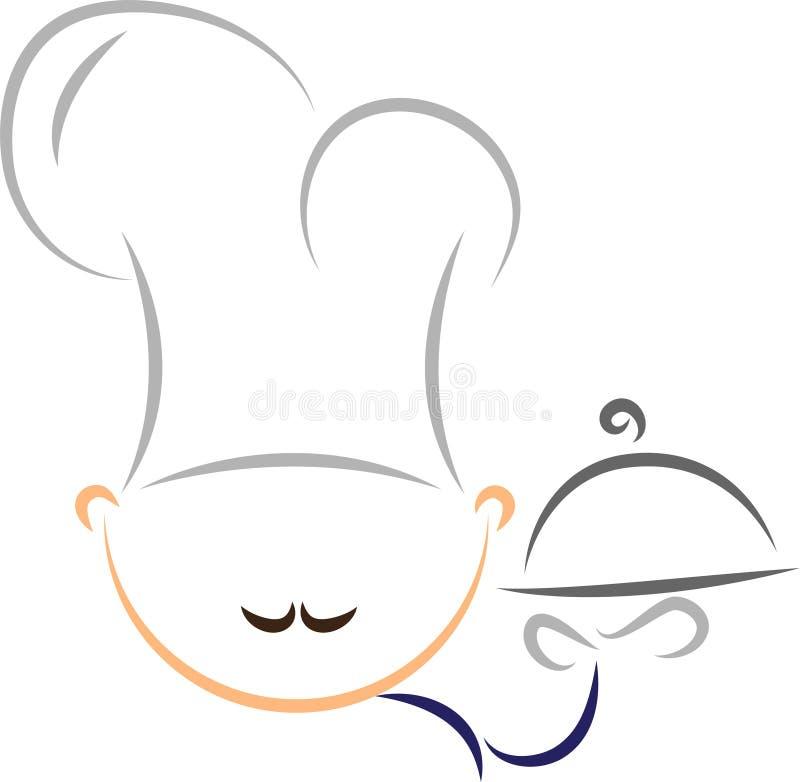 Cocinero estilizado stock de ilustración