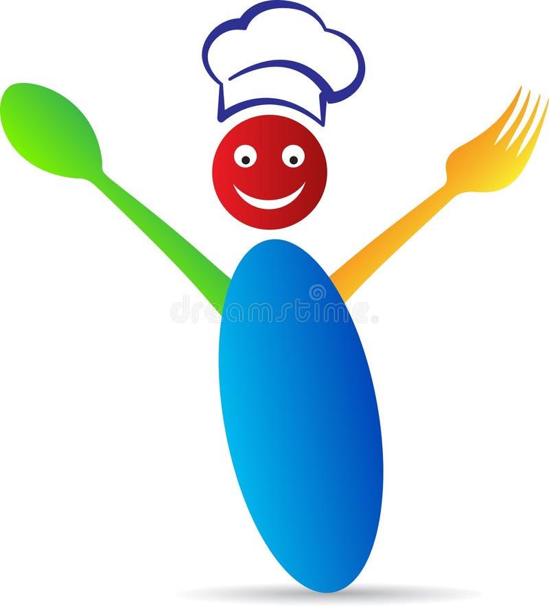 Cocinero feliz stock de ilustración