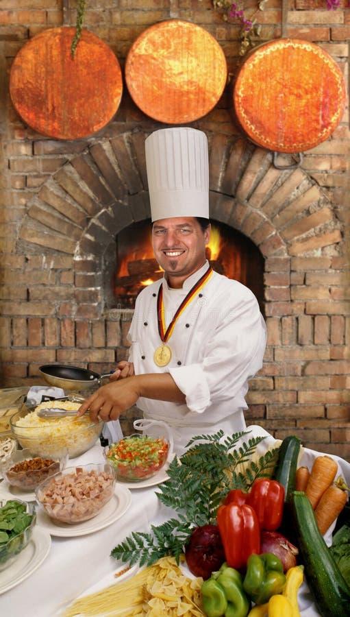 Cocinero gastrónomo fotografía de archivo