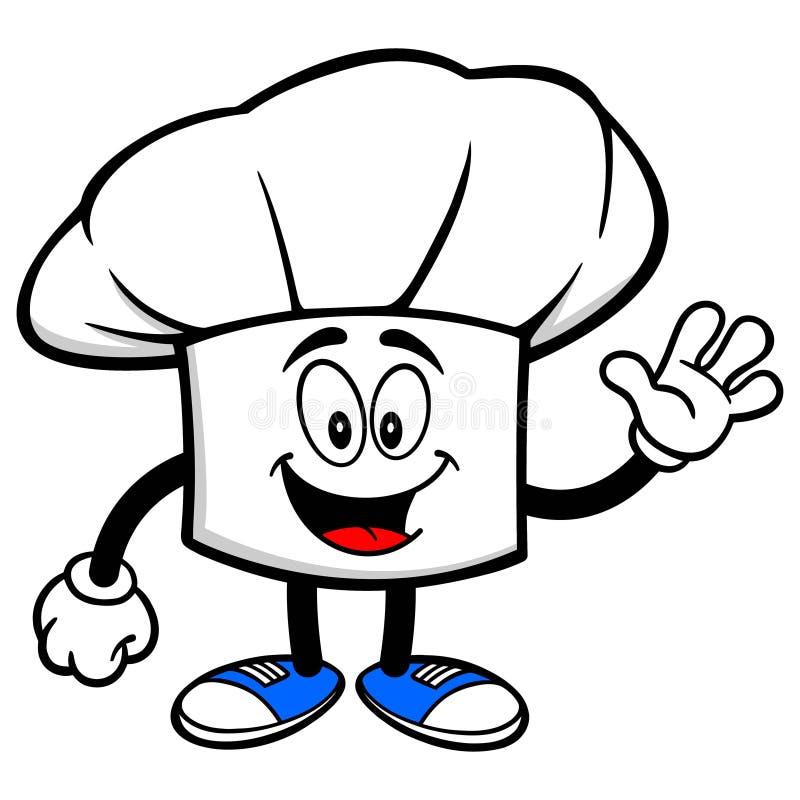 Cocinero Hat Talking ilustración del vector