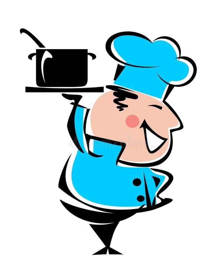 Cocinero heerful del ¡de Ð stock de ilustración