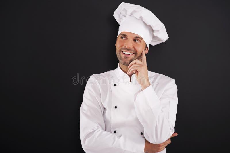 Cocinero hermoso imagen de archivo libre de regalías