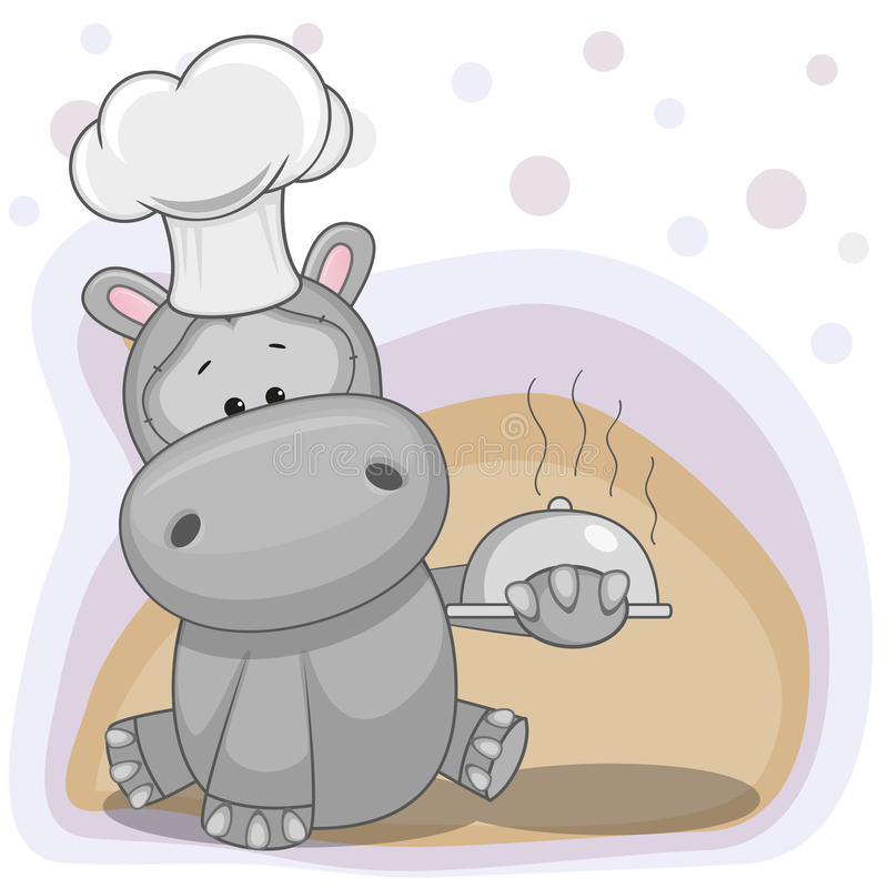 Cocinero Hippo ilustración del vector