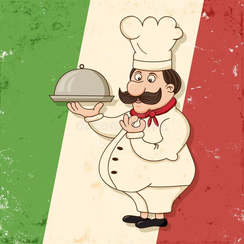 Cocinero italiano stock de ilustración