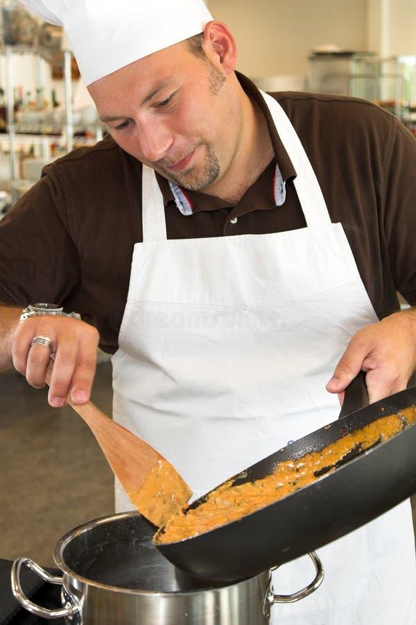 Cocinero italiano imagenes de archivo