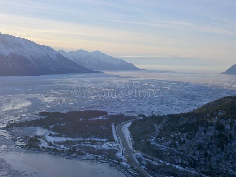 Cocinero llenado hielo Inlet Alaska fotos de archivo libres de regalías