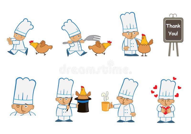 Cocinero minúsculo Fun stock de ilustración