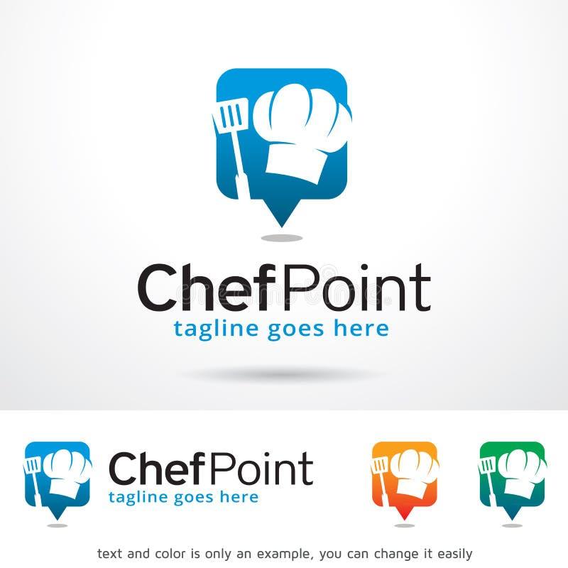 Cocinero Point Logo Template Design Vector ilustración del vector