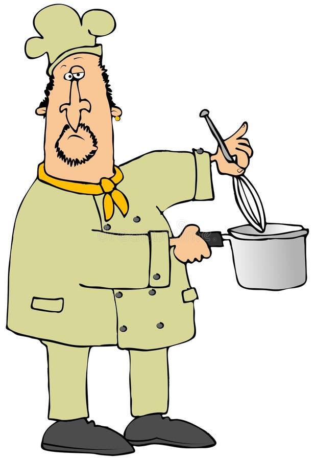 Cocinero que usa un batir libre illustration