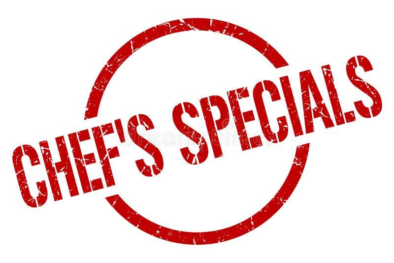 cocinero \ 'sello de specials de s stock de ilustración