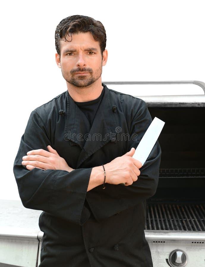 Cocinero serio fotografía de archivo
