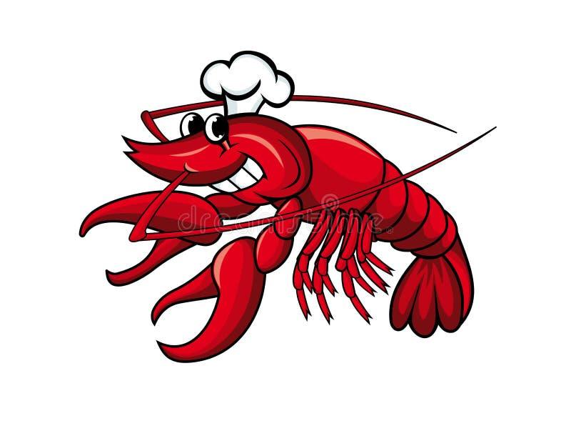 Cocinero sonriente de los cangrejos libre illustration
