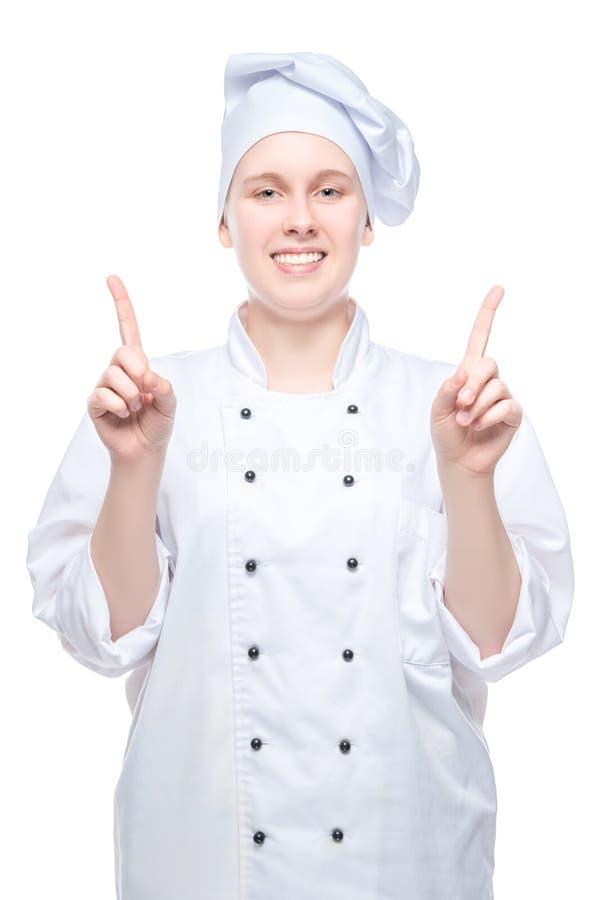 cocinero tirado en un fondo blanco fotografía de archivo