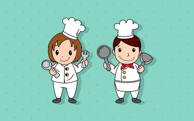 Cocinero Vector de la historieta imágenes de archivo libres de regalías