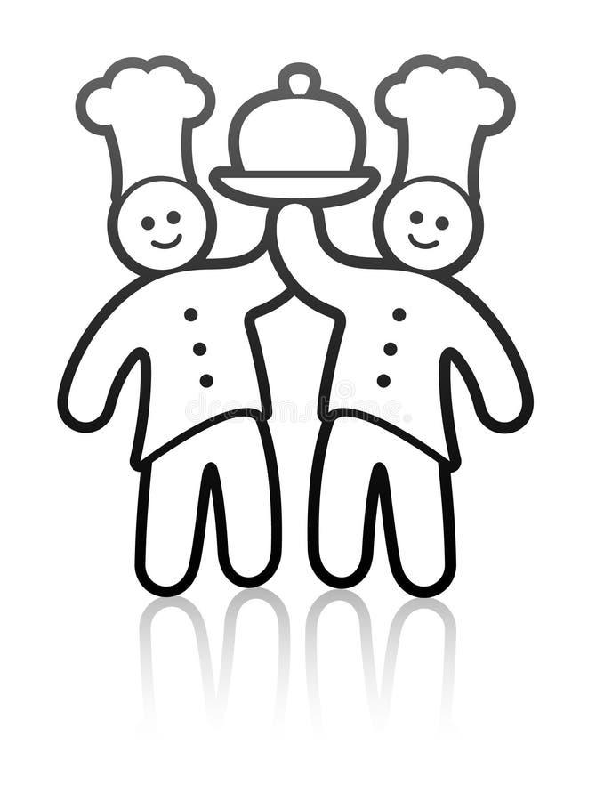 Cocineros del alimento libre illustration