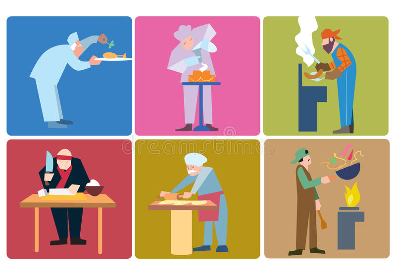 Cocineros en todo el mundo libre illustration