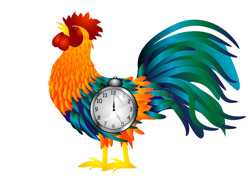Download With alarm clock stock image. Image of side, bird, clock - 31275179