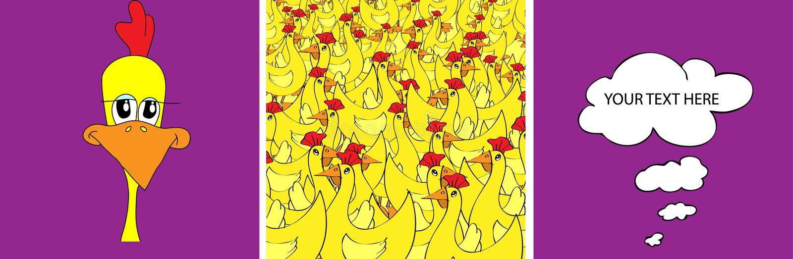 and chicken royalty free illustration