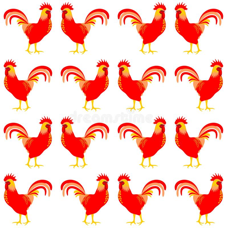 Cock, rooster. Bird isolated on white. Vector. vector illustration