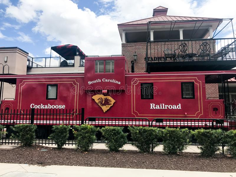 Cockaboose Railroad, Williams Brice Stadium, Columbia, South Carolina royalty free stock photography