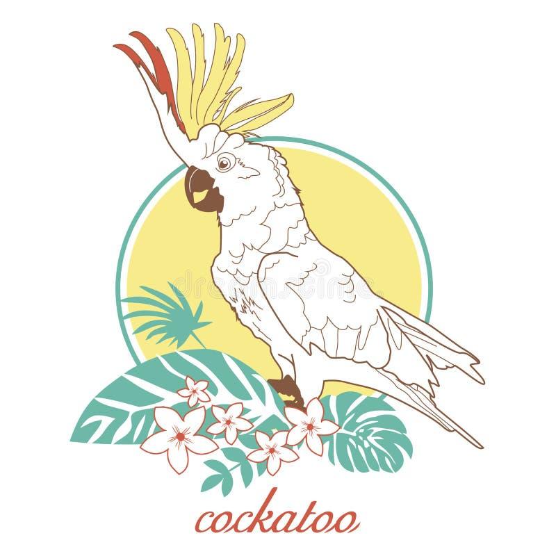 cockatoo stock de ilustración