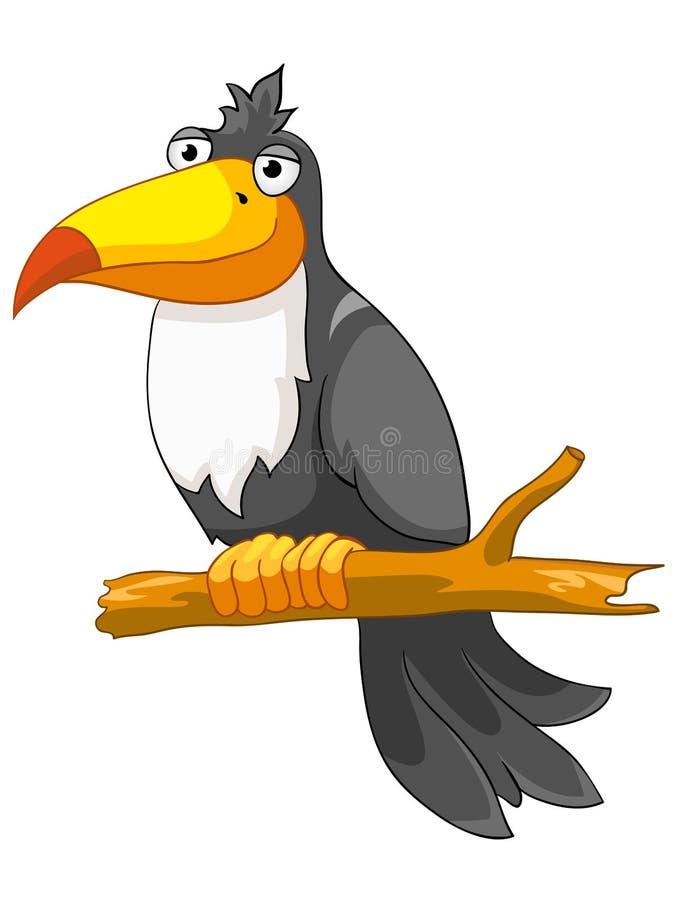 Cockatoo del personaje de dibujos animados libre illustration
