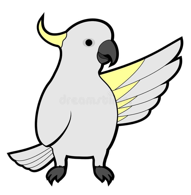 Cockatoo olá! ilustração royalty free