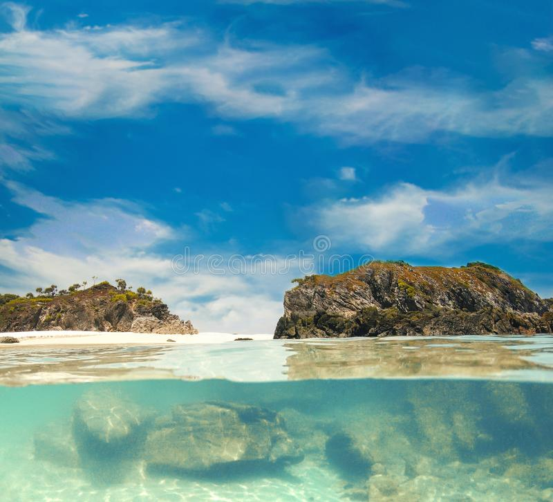 Cockburn island in Andaman ,blue sky and beautiful beach.  royalty free stock images