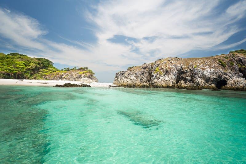 Cockburn island in Andaman ,blue sky and beautiful beach.  royalty free stock photos