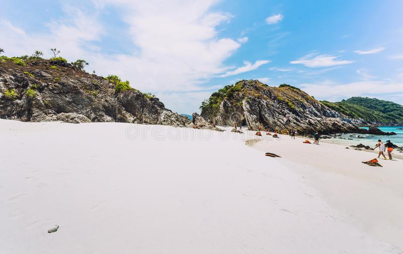 Cockburn island in Andaman ,blue sky and beautiful beach.  stock images