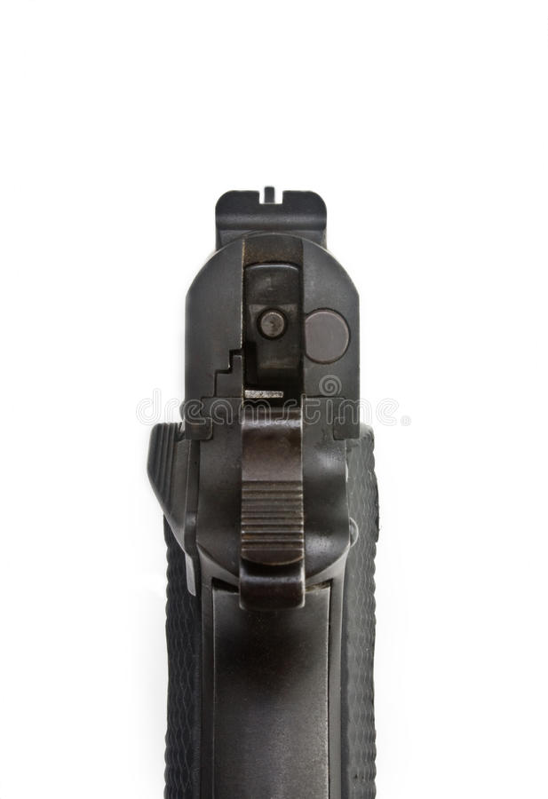 Download Cocked stock photo. Image of cocked, aimed, pistol, automatic - 10021020