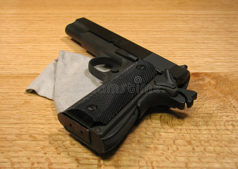 Cocked And Locked 1911 Stock Photography
