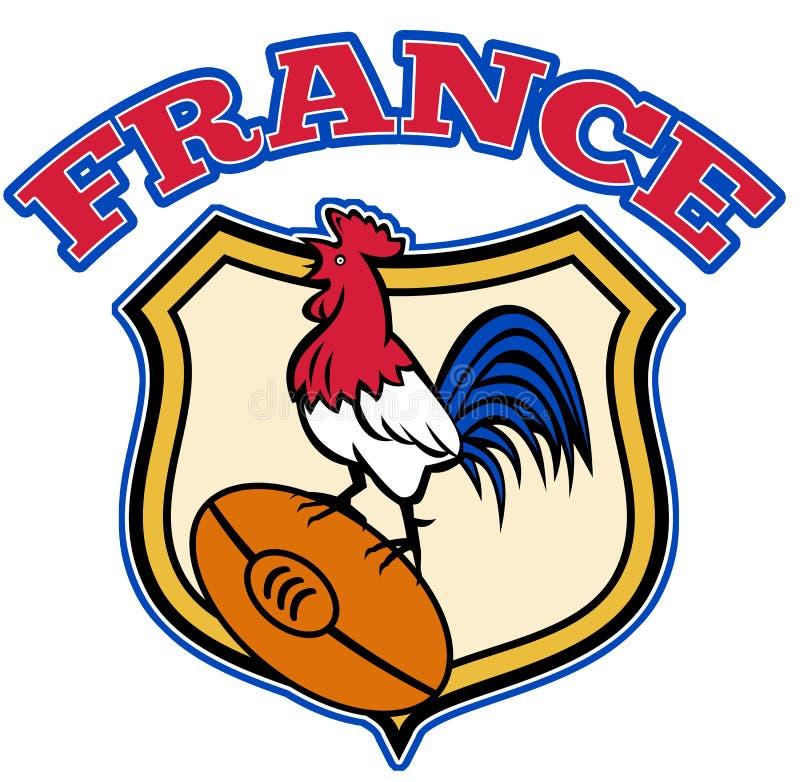 cockerel France koguta rugby ilustracji