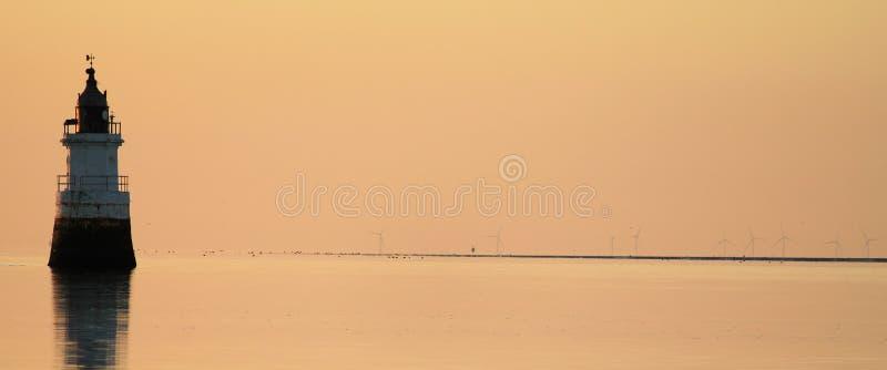 cockersands ujścia latarni morskiej lune rzeka obraz stock