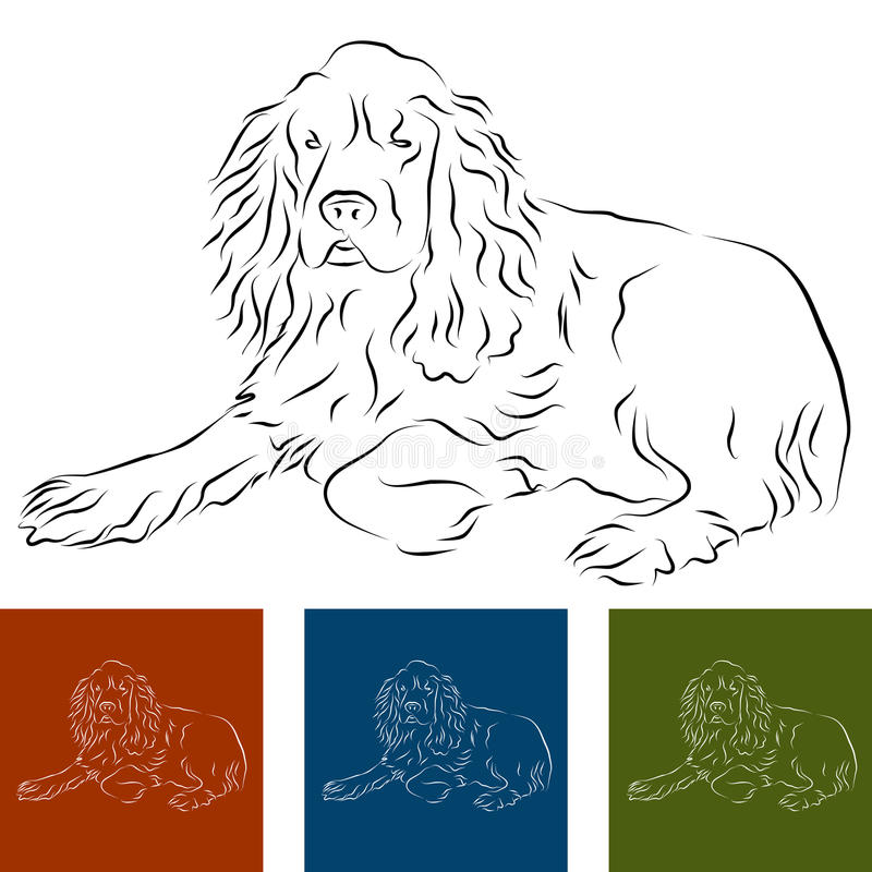 cockerspanielspaniel stock illustrationer