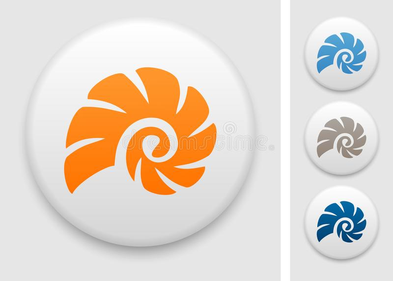 Cockle skorupy ikona royalty ilustracja
