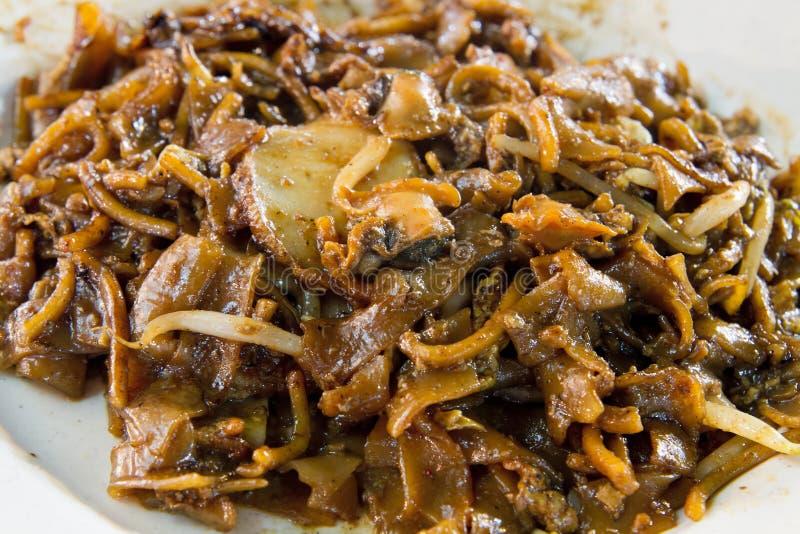 cockles noodles Σινγκαπούρη τηγανητών ανακατώνουν στοκ φωτογραφία