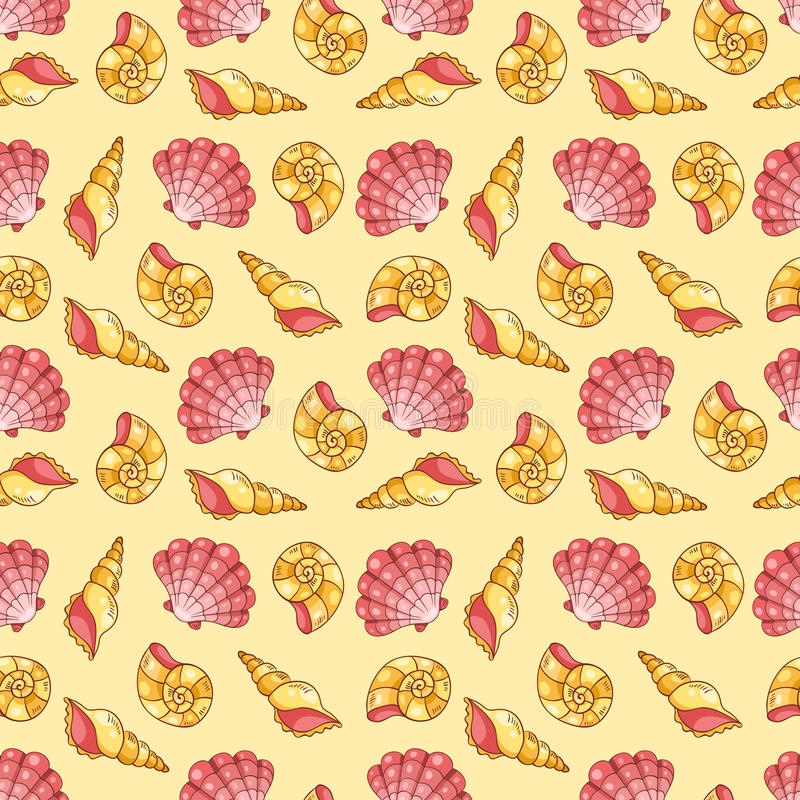 Download Cockleshells Seamless Pattern Stock Vector - Image: 36271603