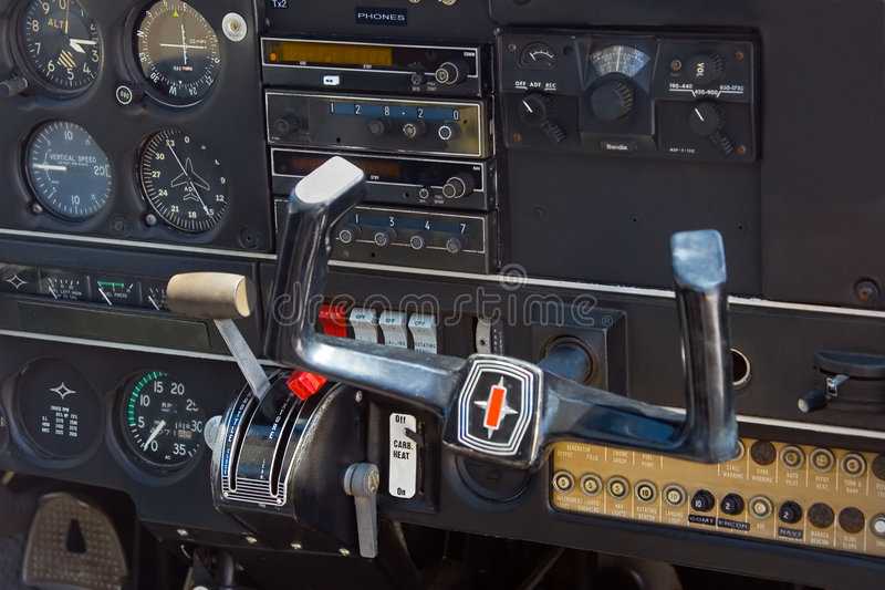 Cockpit royalty free stock photo