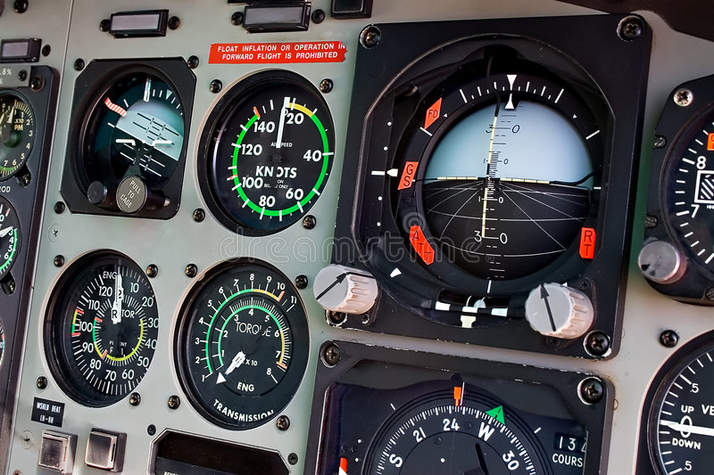 Cockpit stock photo