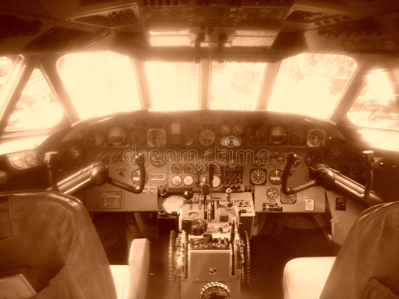 Cockpit royalty free stock photos