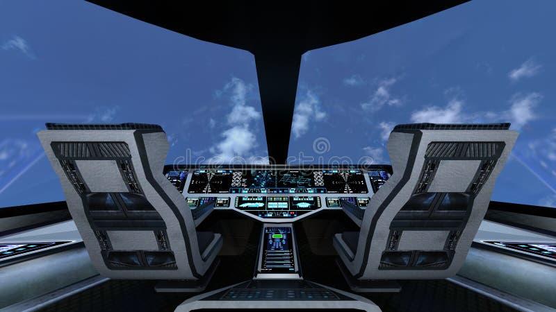 cockpit vektor illustrationer