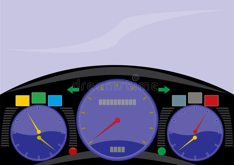 cockpit royaltyfri illustrationer