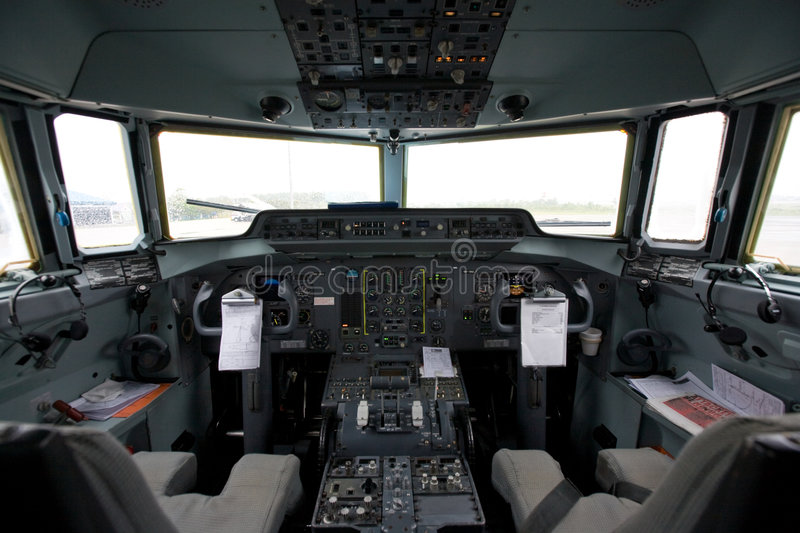 Download Cockpit Of An Airplane Stock Photos - Image: 3859483