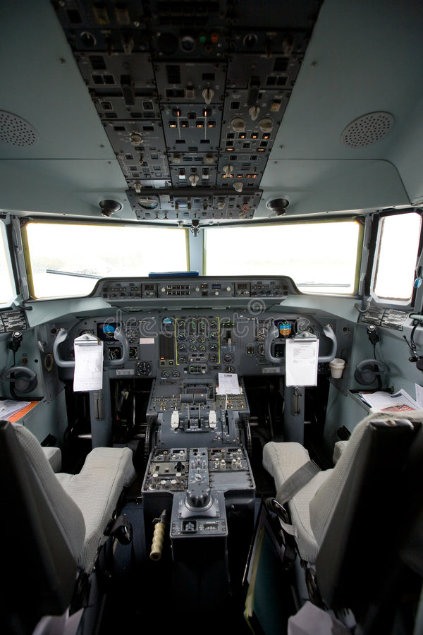 Download Cockpit of an airplane stock image. Image of sophisticated - 3859487