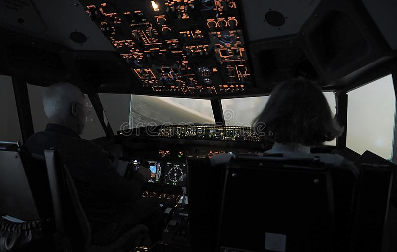 Cockpit Of A Boeing 737 Airplane Editorial Photo - Image of