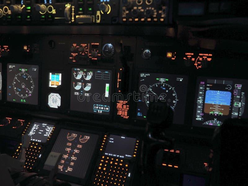 Aircraft Autopilot Heading Controls Panel Display Stock Image